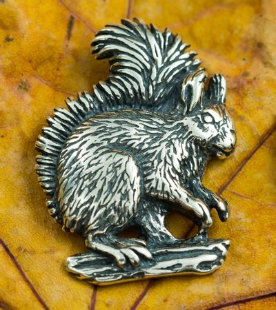 SQUIRREL, sterling silver pendant