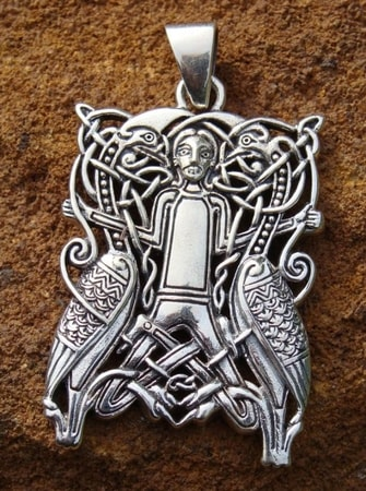 WINGED SPIRITS, silver pendant - PT-3478