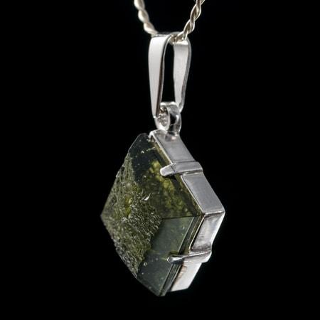Drusa czech moldavite pendant silver wulflund drusa czech moldavite pendant silver aloadofball Gallery