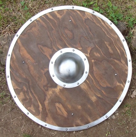 ROUND SHIELD III, wood and metal