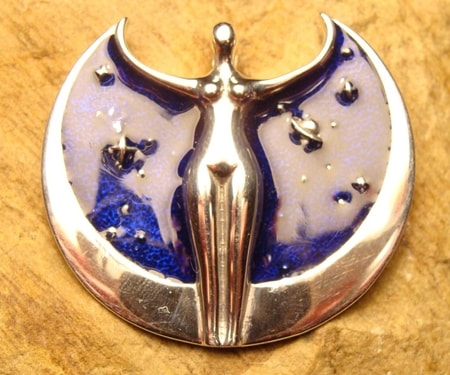 GODDESS OF SPACE, silver pendant
