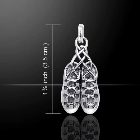 Irish Dance Shoes, silver pendant, Ag 925