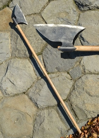 IRISH GALLOWGLASS AXE, FORGED REPLICA, 16TH CENTURY