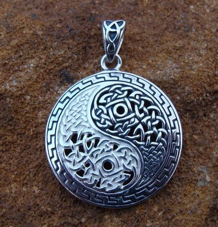 KNOTTED YING YANG, silver pendant, SILVER YING YANGS WHOLESALE