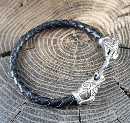 DRAIG - Celtic Dragon, tin bracelet, bolo