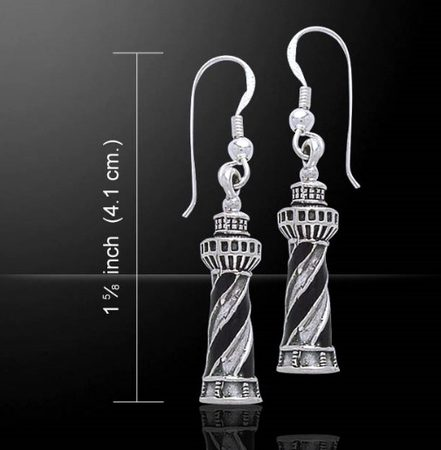LIGHTHOUSE FOR PROTECTION, earrings, Ag 925