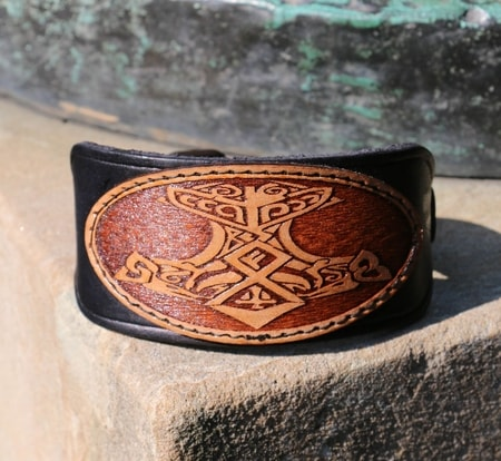 Thor's Hammer, leather bracelet