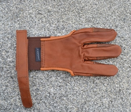 ARCHERY GLOVE, for three fingers
