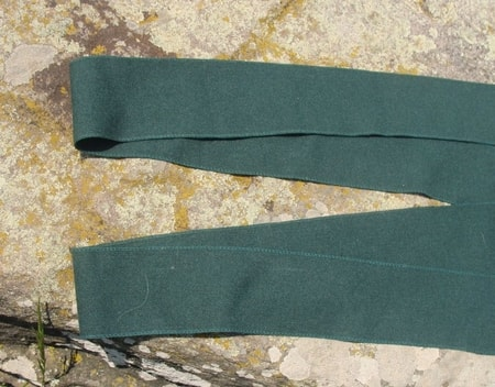 GREEN WOOLEN SHOE BELTS for viking or Slavic costume, pair