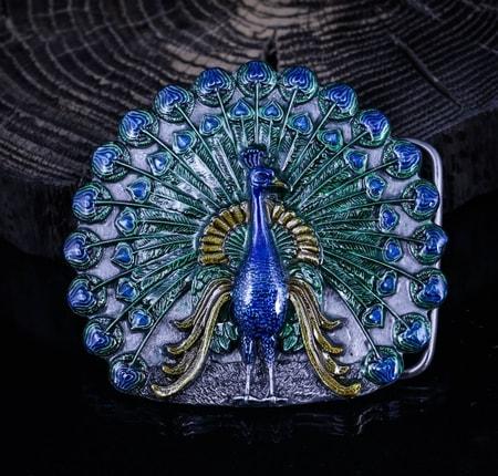 Peacock Belt Buckle B