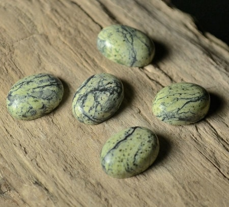 UNAKITE, oval, cabochon gemstone 14 x 10 mm