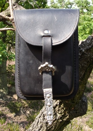 LEATHER WALLET BAG,  VIKING STYLE