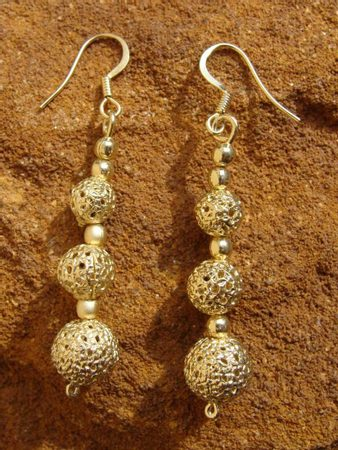 GOMB EARRINGS, gold plated