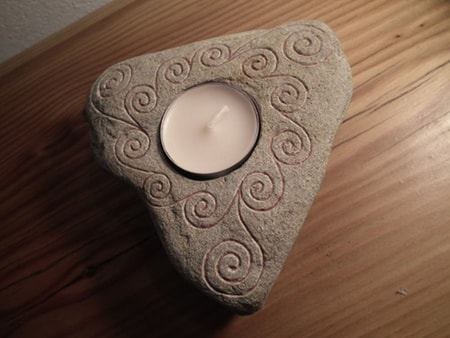 SPIRALS, Stone Tea Candle Holder