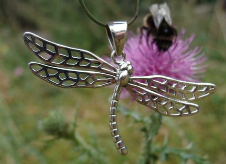 DRAGONFLY, silver pendant, Ag 925