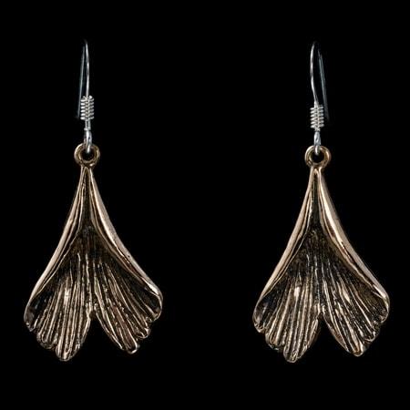 Ginkgo Earrings Bronze
