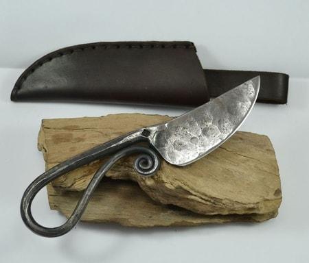 Forged Viking Knife And Leather Sheath Wulflund Com