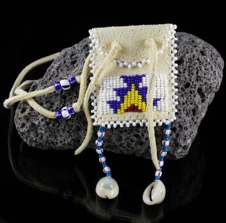 Native American Beaded Neck Pouch Indians Wulflund Com