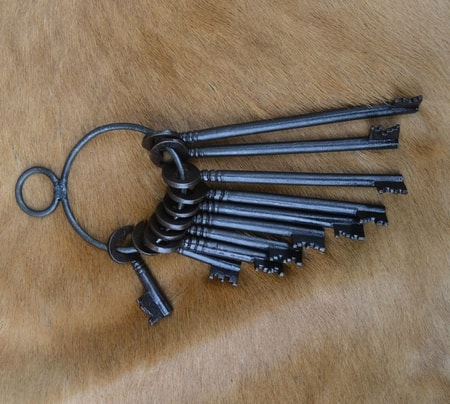SET OF HISTORICAL KEYS, costume accessory