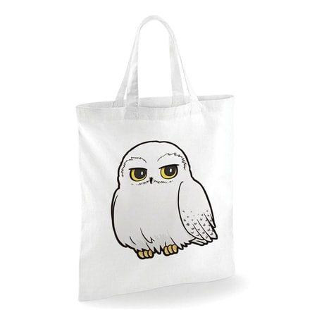 Harry Potter - Cartoon Hedwig, Tote Bag, White