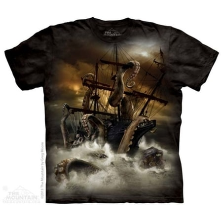 Kraken - Monster - Ship, The Mountain, t-shirt