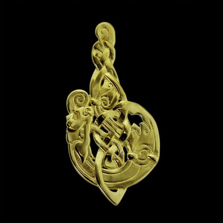 MAC TÍRE CELTIC WOLF, PENDANT, 14K GOLD