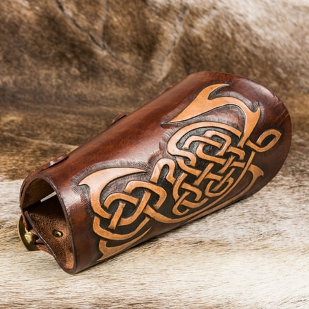 LEATHER BRACER, celtic design