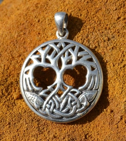 CELTIC TREE OF LIFE, silver pendant, Ag 925