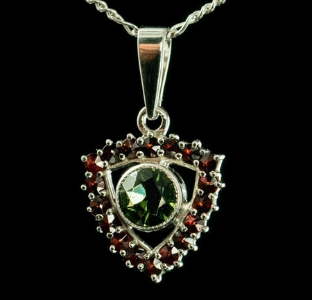 Lorina Garnet Czech Jewel Necklace Wulflund Com