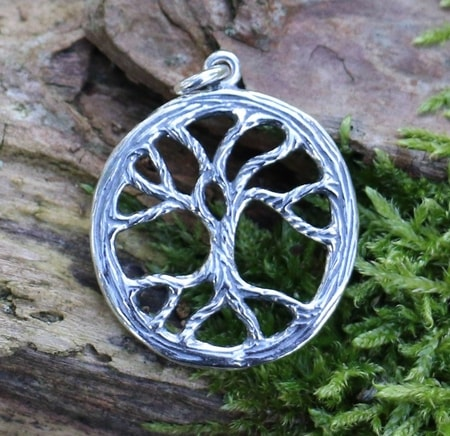Celtic Tree, sterling silver