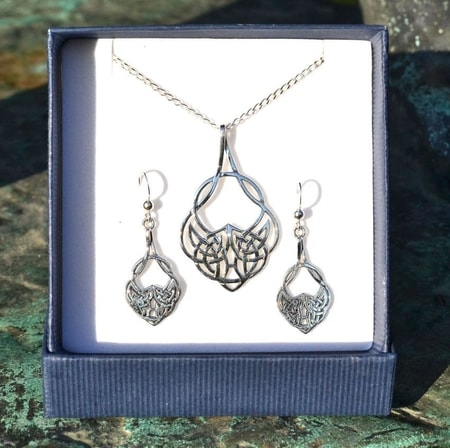 CELTICA, sterling silver jewelry set