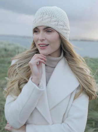 BEANIE, Merino Wool Ladies, Cream