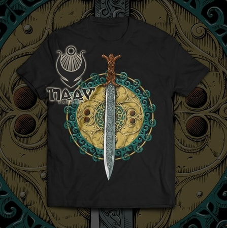 Claíomh Solais - Sword of Light, men's T-shirt - Irish