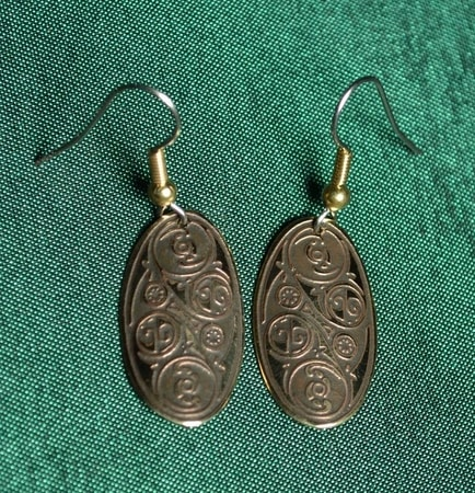 LÍOBHAN, brass earrings, Made in Ireland