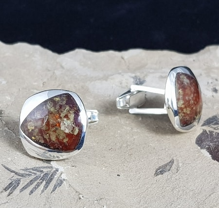 AMBER Cufflinks and Silver from POLAND Wholesale