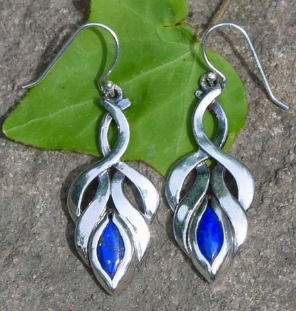 Lapis Lazuli Earrings | Silver