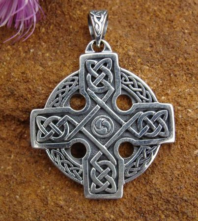 THE CELTIC CROSS, extra thick silver pendant, Ag 925