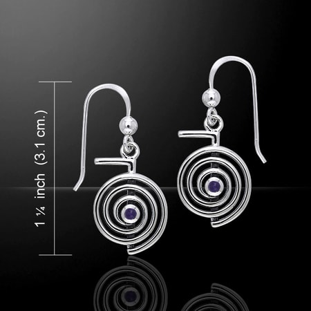 CHO KU REI, REIKI SILVER EARRINGS, AG 925
