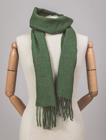 LEAF GREEN, lambswool scarf Ireland