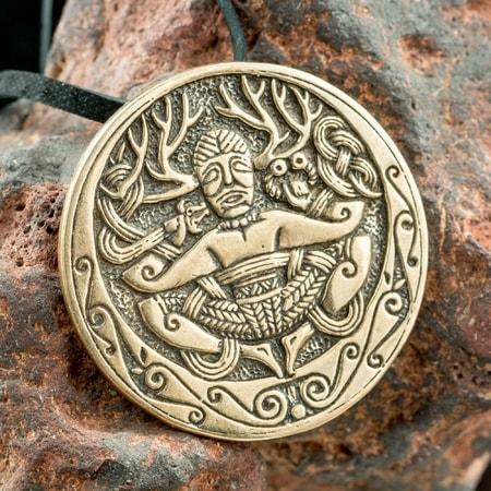 Cernunnos gundestrup cauldron tin pendant wulflund cernunnos gundestrup cauldron bronze pendant aloadofball Gallery