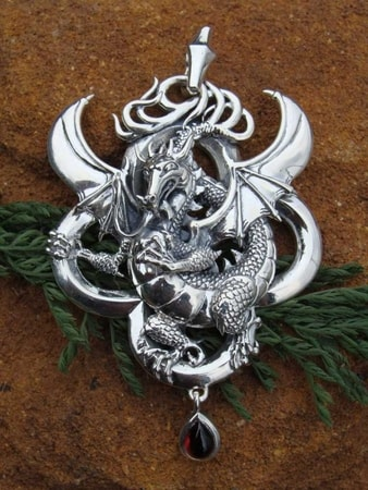 Fire Dragons Jewels Pendants and Earrings