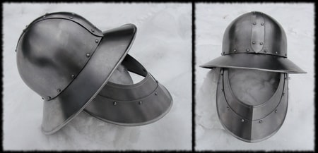 IRON HAT HELMET WITH FACE PROTECTION