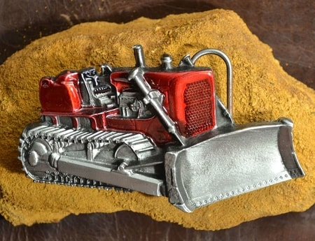 BULLDOZER, belt buckle