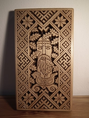SLAVIC GOD, Wood Carving