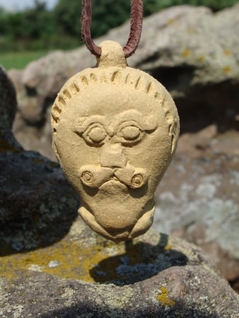 DRUID HERO GOD CELTIC HEAD FROM MSECKE ZEHROVICE