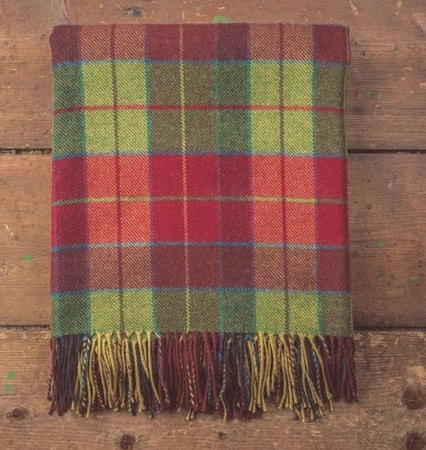 Wicklow Tartan, lambs wool blanket
