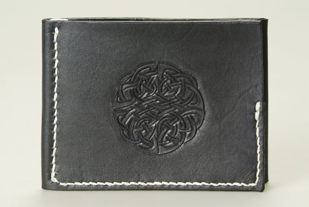 BLACK LEATHER CELTIC WALLET