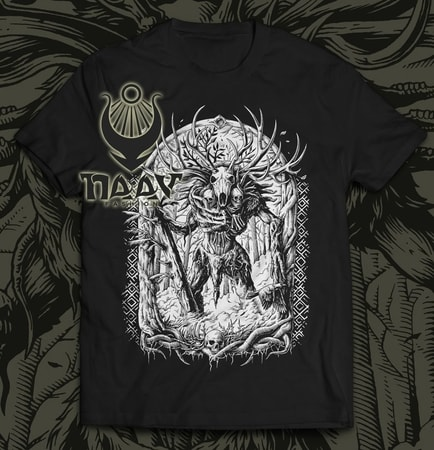 LESHY, men's T-shirt black