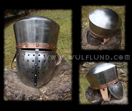 TEMPLAR HELMET with copper belt