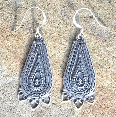 LADA, silver slavic earrings, Ag 925